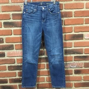 7 For All Mankind Kimmie Cropped Jeans sz 26